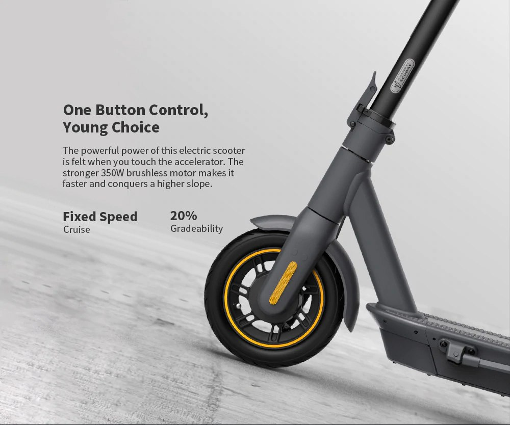 Ninebot MAX G30 Portable Folding Electric Scooter 350W Motor Max Speed 30km/h 15.3Ah Battery - Black