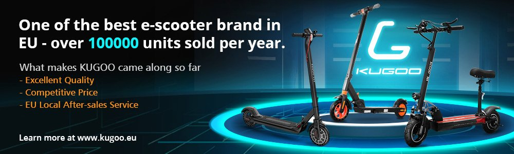 KUGOO S1 Folding Electric Scooter 350W Motor LCD Display Screen 3 Speed Modes Max 30km/h - Black