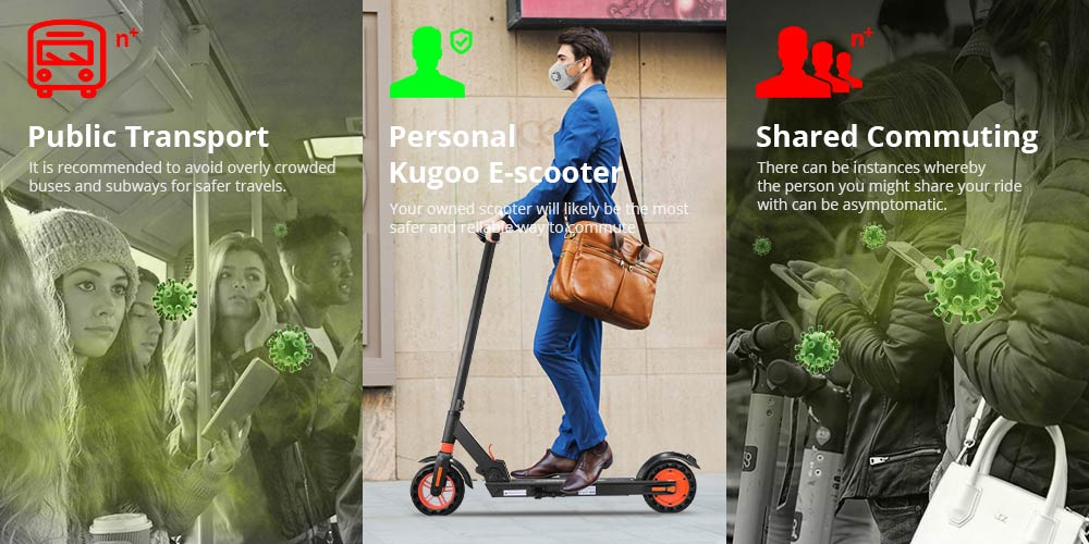 KUGOO S1 Pro Folding Electric Scooter 350W Motor LCD Display Screen 3 Speed Modes Max 30km/h - Black