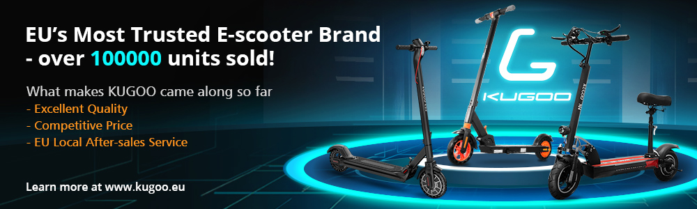 KUGOO ES2 Folding Electric Scooter 350W Motor LED Display Screen Max 25KM/H 8.5 Inch Tyre - Black