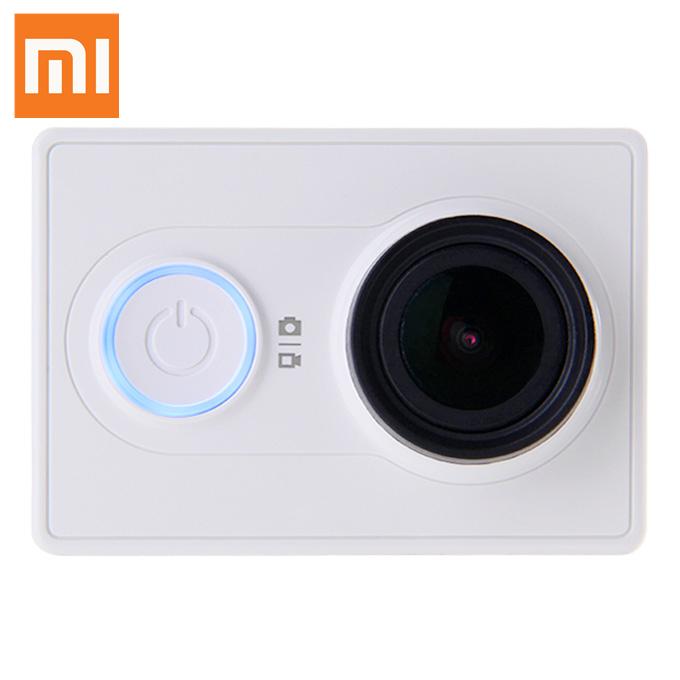 Xiaomi Yi Action Camera WiFi 16MP 1080P 60FPS Ambarella A7LS 155 Degree Wide Lens Bluetooth AV Sports DV - White (Basic)