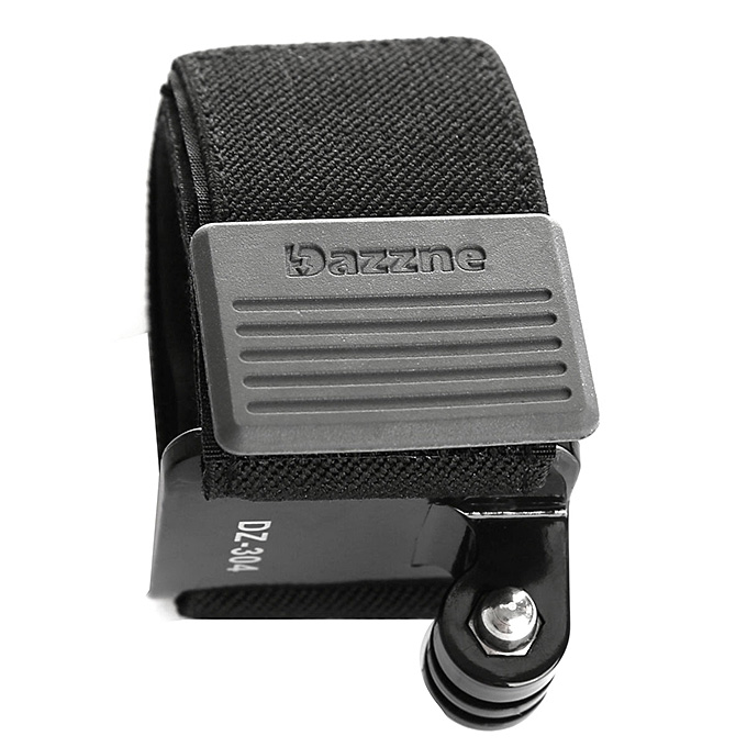 Dazzne DZ-304 Adjustable Elastic Hand Wrist Strap Belt Mount GoPro Hero 3+ 3 2 1 Camera - Black