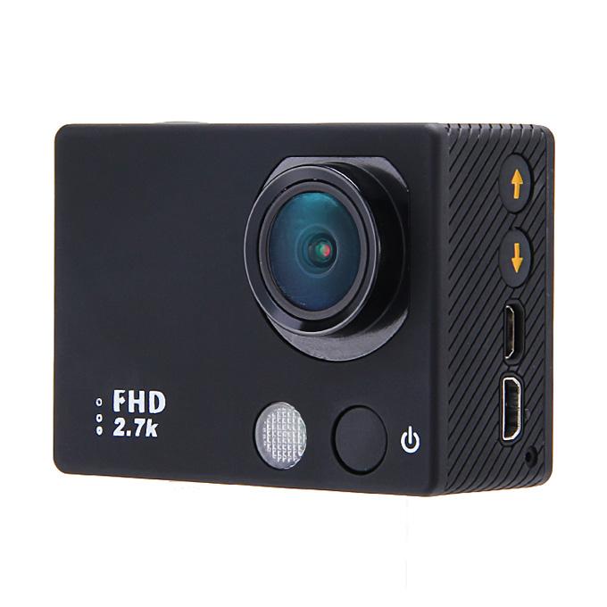 "Ambarella A7 Full HD Sports Camera 170 Degrees Wide Angles 2"" TFT Screen Action Camera Diving DVR -  Black"