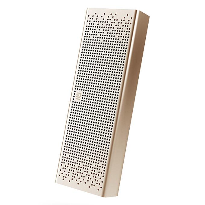Original Xiaomi Metal Box BT4.0+EDR Bluetooth Speaker 2.4GHZ-2.48HZ Mini Portable Stereo Wireless Connection Handsfree - Gold