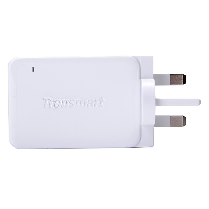 Qualcomm Certified Tronsmart Premium Design Quick Charge 2.0 42W 3 Ports Wall Charger Samsung/Sony/HTC - UK Plug