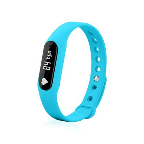 C6 Bluetooth 4.0 Smart Bracelet Heart Rate Monitor Sleep Tracker Call/SMS Reminder Anti-lost IP65 Waterproof Android iOS - Blue