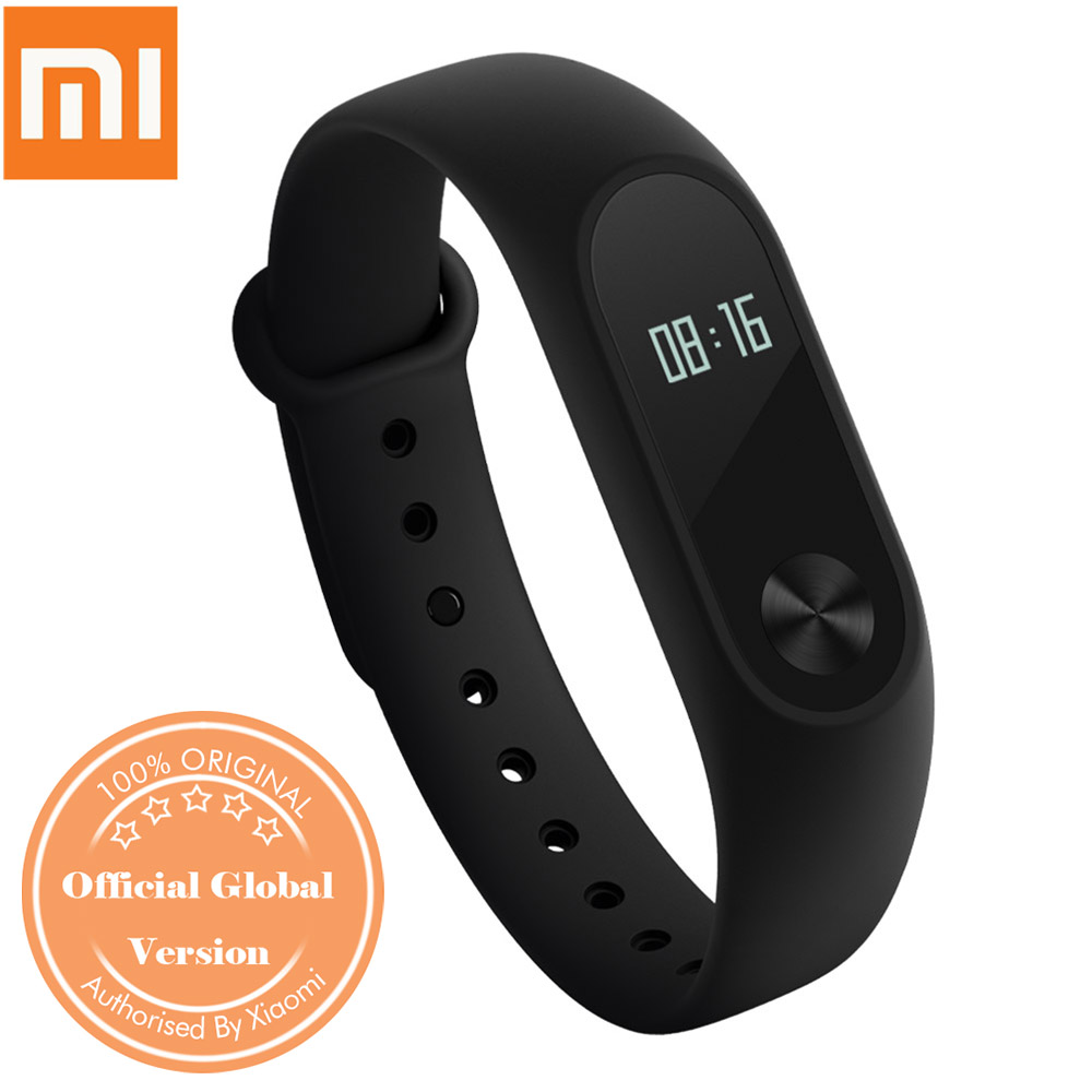 "Xiaomi Mi Band 2 Smart Bracelet 0.42"" OLED Display/ Touch Key Control/ Heart Rate Monitor/ Sports Fitness Tracker/ Call Reminder/ IP67 Android iOS Global Version - Black"