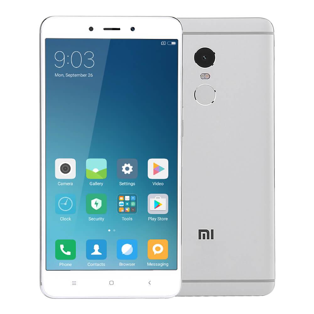 Xiaomi Redmi Note 4 Pro 5.5inch FHD 2.5D Arc Screen MIUI 8 4G LTE Smartphone Helio X20 MT6797 Deca Core 3GB RAM 64GB ROM 13.0MP Touch ID 4100mAh Metal Body - Silver