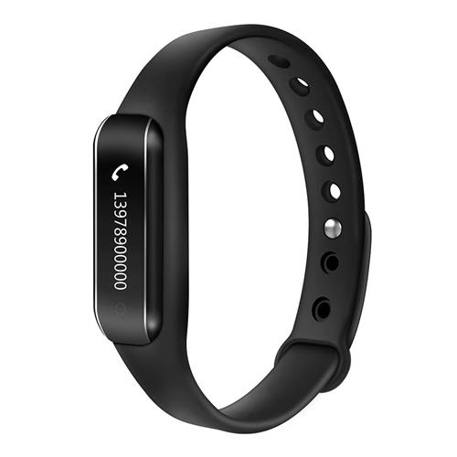 C6B Bluetooth 4.0 Smart Bracelet Heart Rate Monitor Sleep Tracker Call/SMS Reminder Anti-lost IP65 Waterproof Android iOS - Black