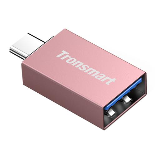 Tronsmart CTAF USB Type-C Male USB-A 3.0 Female Adapter - Rose Gold