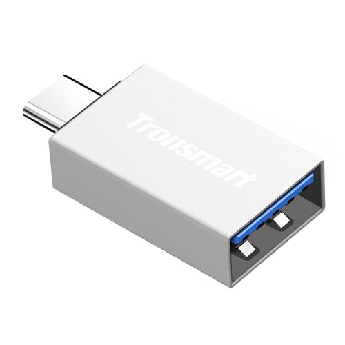 Tronsmart CTAF USB Type-C Male USB-A 3.0 Female Adapter - Silver