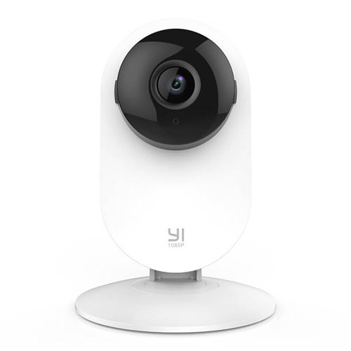 YI 1080P Home Camera Wireless IP Security Surveillance System Ambarella S2LM 1/2.8 Inches CMOS Sensor 112 Degree Wide-angle Motion Detection & Alert  Night Vision YI Smart Home Camera - White