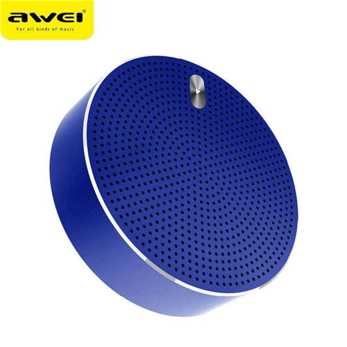 Original Awei Y800 Mini Bluetooth Speaker 3D Stereo DSP HD Noise Reduction Deep Bass Subwoofer Support TF Card - Blue