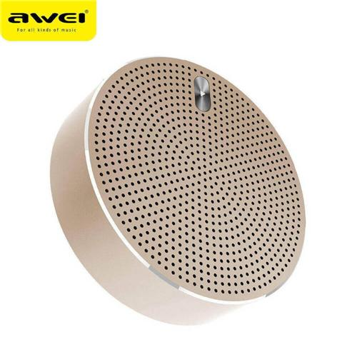Original Awei Y800 Mini Bluetooth Speaker 3D Stereo DSP HD Noise Reduction Deep Bass Subwoofer Support TF Card - Gold