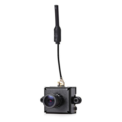 LST-S1 AIO 5.8G 40CH 25mW VTX 800TVL 1/3 CMOS FPV Camera - Black
