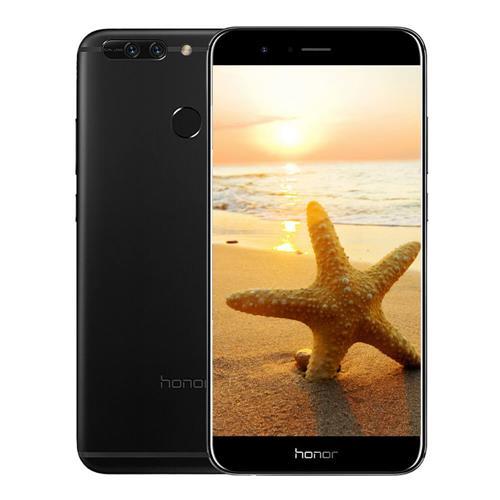 HUAWEI Honor V9 5.7 Inch Smartphone 2K Screen 12.0MP+12.0MP Dual Rear Cam 6GB 128GB Hisilicon Kirin 960 Octa Core Android 7.0 OTA NFC - Black