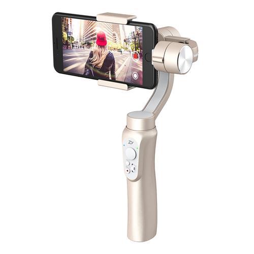 Zhiyun Smooth Q 3-Axis Handheld Brushless Gimbal Smartphone within 6.0 Inch GoPro Hero3/4/5/6 - Gold