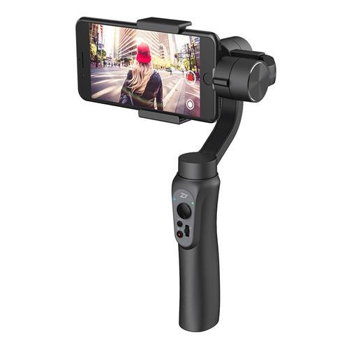 Zhiyun Smooth Q 3-Axis Handheld Brushless Gimbal Smartphone within 6.0 Inch GoPro Hero3/4/5/6 - Jet Black