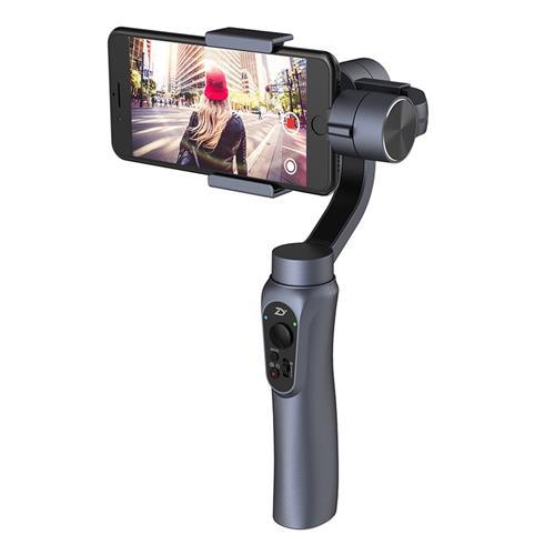 Zhiyun Smooth Q 3-Axis Handheld Brushless Gimbal Smartphone within 6.0 Inch GoPro Hero3/4/5/6 - Space Gray