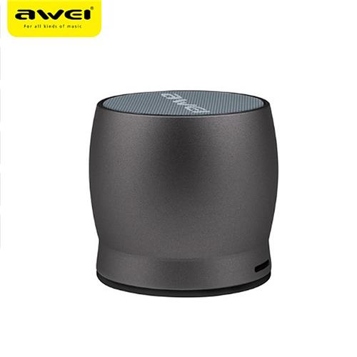 AWEI Y500 Mini Wireless Bluetooth Speaker Metal Stereo Music Hands-free Calls Support AUX/TF - Rose Gold