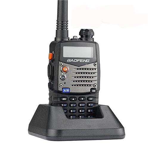Baofeng UV5RA Walkie Talkie Two-way Ham FM Radio 1.5 Inch LCD 5W Dual Band Flashlight -Black