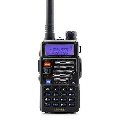 BAOFENG UV-5RE Walkie Talkie UHF VHF Two-way Audio Outdoor Handheld Radio Communicator -Black