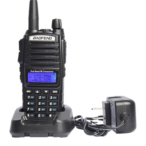 Baofeng UV82 Walkie Talkie VHF/UHF Dual Band Programmable Two-way Radio FM Flashlight Transceiver Handheld Interphone -Black
