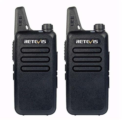 2PCS Retevis RT22 Walkie Talkie 2W 16CH UHF VOX Scan Portable Ham Radio Hf Transceiver CB Radio Communicator -Black