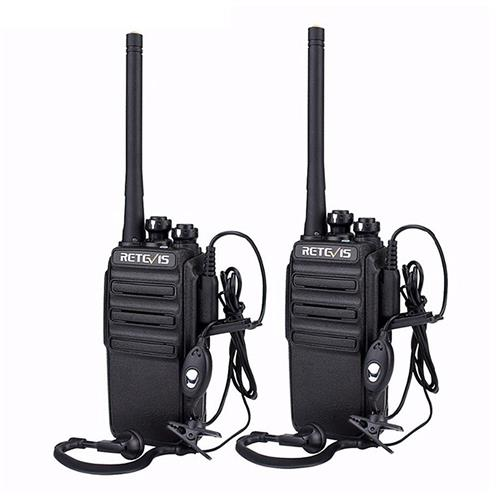 2PCS Retevis RT24 PMR Walkie Talkie License-Free Radio 0.5W 16CH UHF 446 PMR446 Scrambler -Black