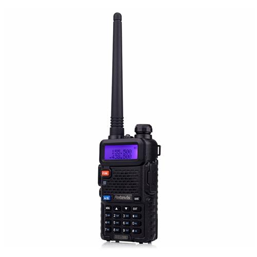 Retevis RT-5R Walkie Talkie Radio VHF UHF Dual Band 5W 128CH Handheld Portable Transceiver -Black