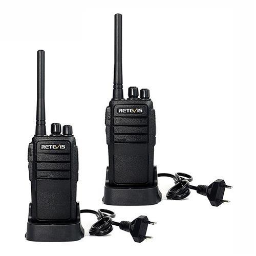 2PCS Retevis RT21 Walkie Talkie IP67 Waterproof Anti-dust Transceiver 5/3/1W VHF+UHF Portable Radio -Black