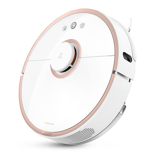 Roborock S50 Robot Vacuum Cleaner 2 Automatic Area Cleaning 2000pa Suction 2 1 Sweeping Mopping Function LDS Path Planning 5200mAh Battery MI Vacuum Cleaner Upgraded Version -Rose Gold