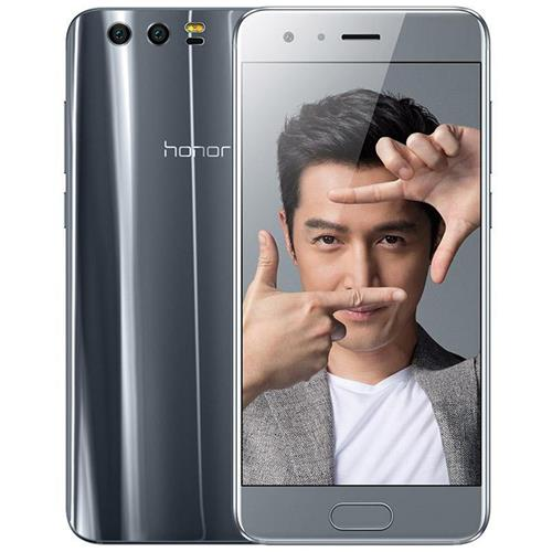 HUAWEI Honor 9 5.15 Inch Smartphone FHD Screen 6GB 128GB Hisilicon Kirin 960 Octa Core 20.0MP + 12.0MP Dual Rear Cam Android 7.0 Touch ID NFC 3D Curved Glass Body - Gray