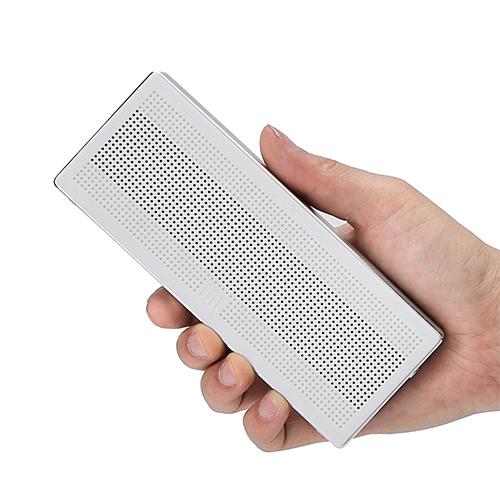 Original Xiaomi Square Box BT4.0+EDR Speaker 2.4GHZ-2.48HZ Mini Portable Stereo Wireless Connection Handsfree - Silver