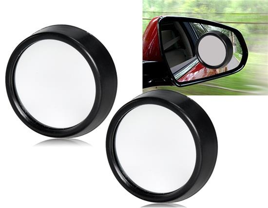 Adjustable 360 Degrees Angle Wide-Angle Reversing Rearview Mirror 2 PCs/Set - Black