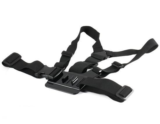 Adjustable Chest Mount Harness Shoulder Strap Gopro Hero 3/ 2/ 1 Camera - Black