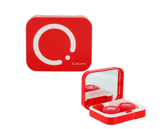 Cute CnKaite Contact Lens Case Box Kit Built-in Mirror