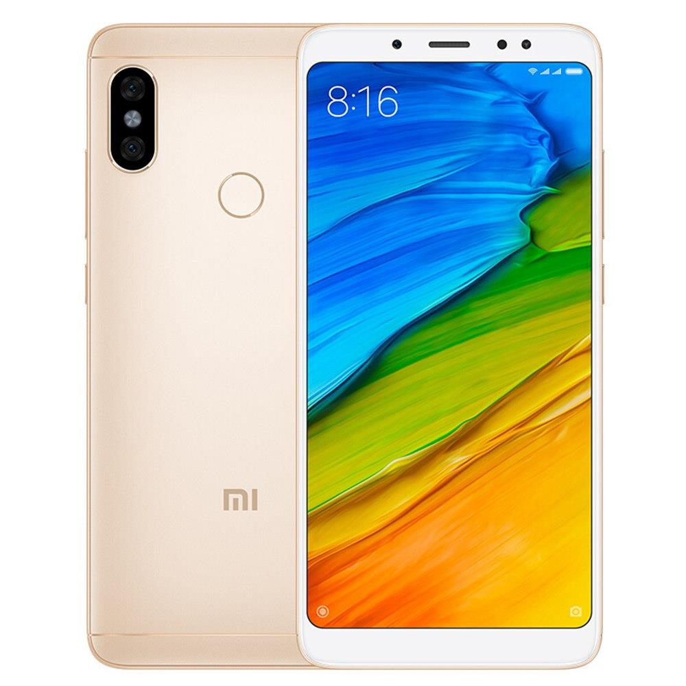 Xiaomi Redmi Note 5 5.99 Inch Smartphone Snapdragon 636 3GB 32GB 5.0MP+12.0MP Dual Rear Cameras MIUI 9 OS 18:9 Full Screen Global Version - Gold
