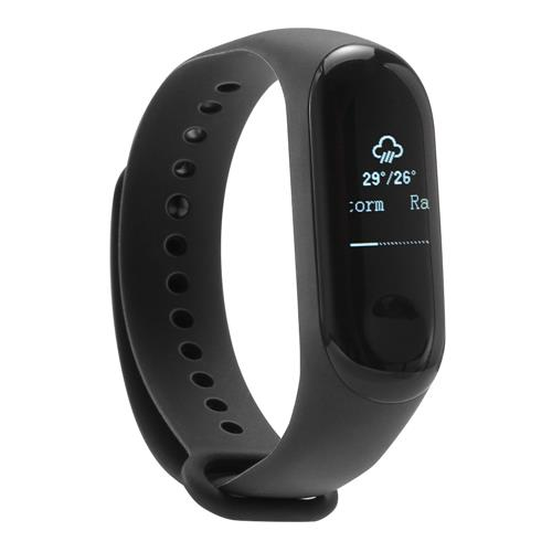 "NFC Version Original Xiaomi Mi Band 3 Smart Bracelet 0.78"" OLED Touch Screen 5ATM Water Resistant Sports Fitness Tracker Reject Phone Calls Notification Display Bluetooth 4.2 - Black"