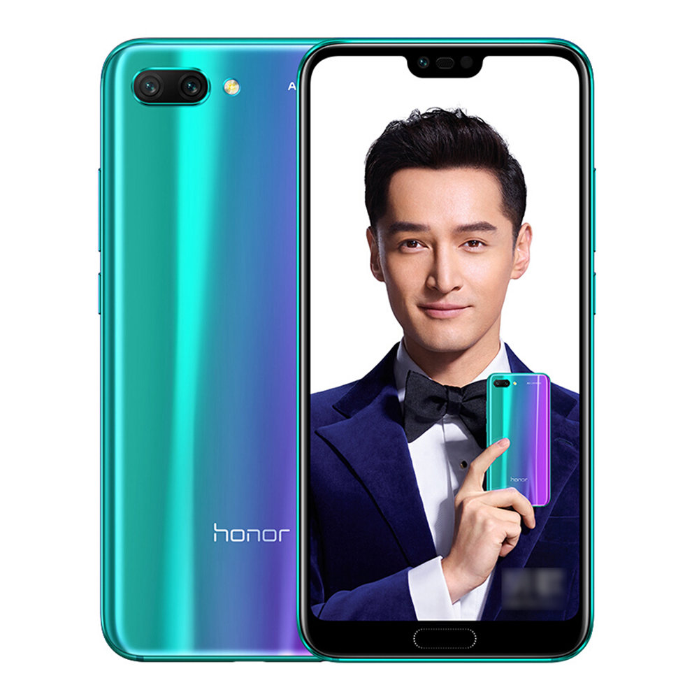HUAWEI Honor 10 5.84 Inch Smartphone Kirin 970 6GB 128GB 16.0MP+24.0MP Dual Rear Cameras Android 8.1 FHD+ Screen OTG Touch ID Type-C - Purple