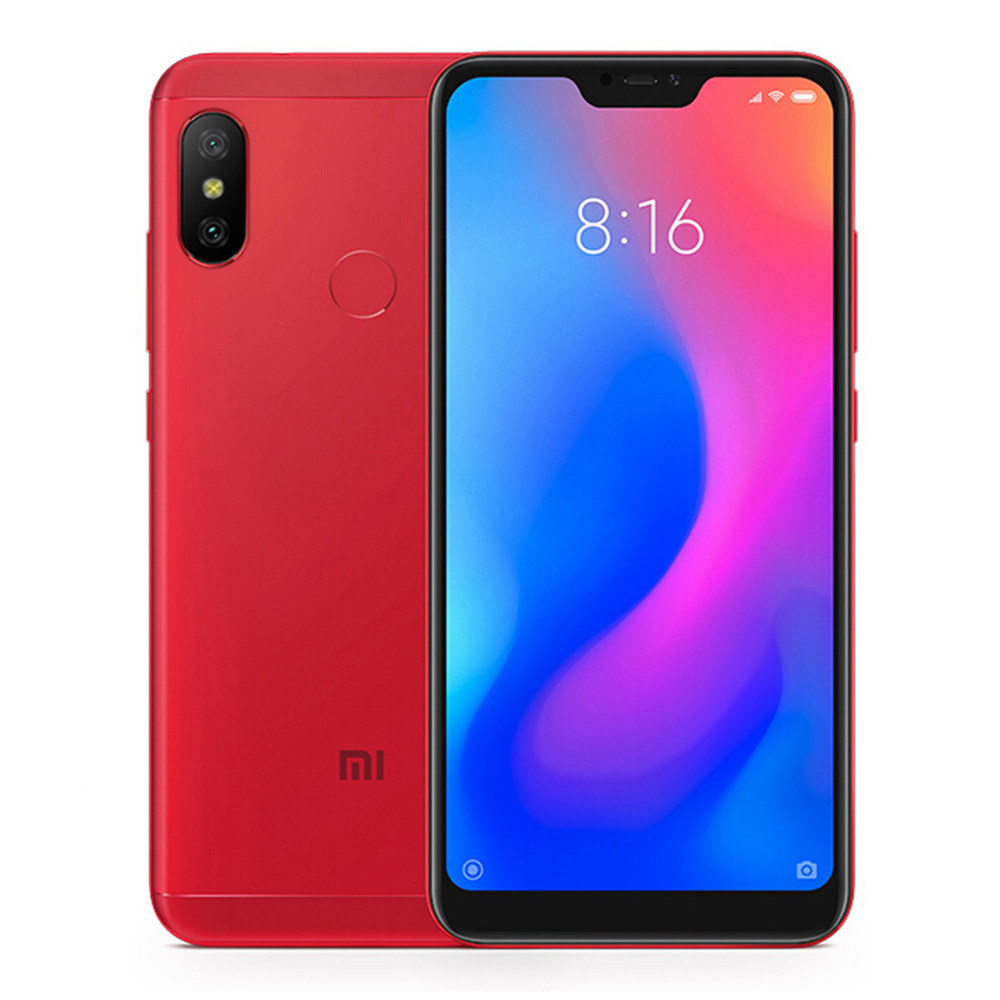 Xiaomi Redmi 6 Pro 5.84 Inch 4G LTE Smartphone Snapdragon 625 4GB 64GB 12.0MP+5.0MP Dual Rear Cameras MIUI 9 4000mAh Touch ID 19:9 FHD+ Screen - Red
