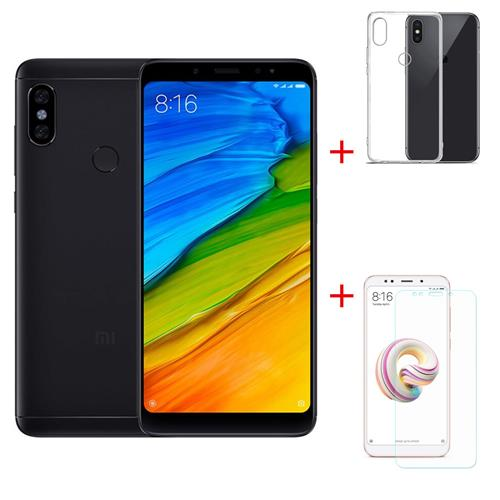 Package BXiaomi Redmi Note 5 5.99 Inch 4G Smartphone Snapdragon 636 4GB 64GB 12.0MP+5.0MP Dual Rear Cameras Android 8.1 + Protective Phone Case + Screen Protector Global Version - Black