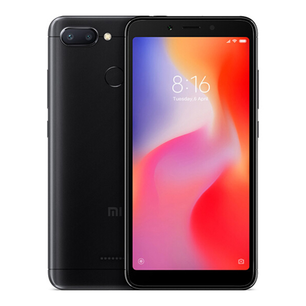 Xiaomi Redmi 6 5.45 Inch 4G LTE Smartphone MTK Helio P22 4GB 64GB 12.0MP+5.0MP Dual Rear Cameras Android 8.1 OS 18:9 Screen AI Face Unlock Global Version - Black