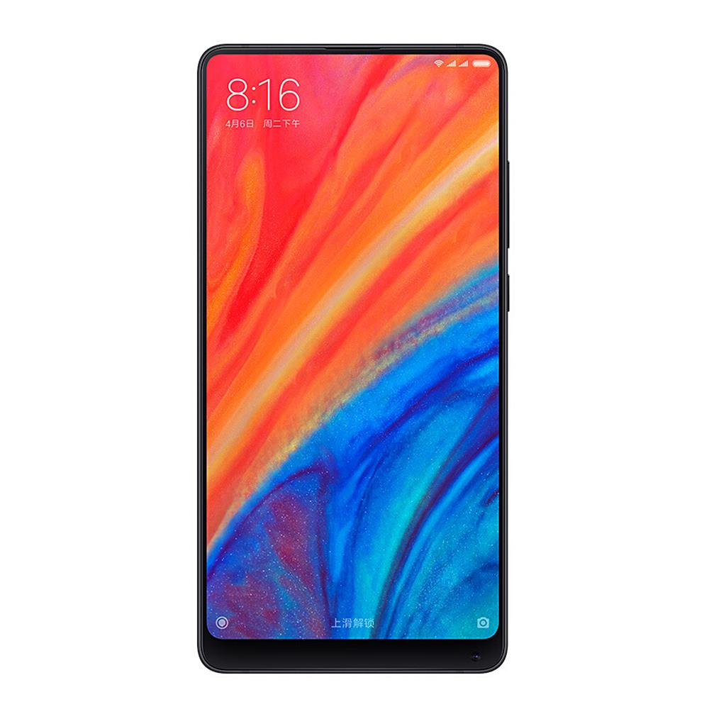 Xiaomi Mi Mix 2S 5.99 Inch 4G LTE Smartphone Snapdragon 845 6GB 64GB 12.0MP Dual Rear Cameras MIUI 9 Type-C Ceramic Body Wireless Charging Global Version- Black