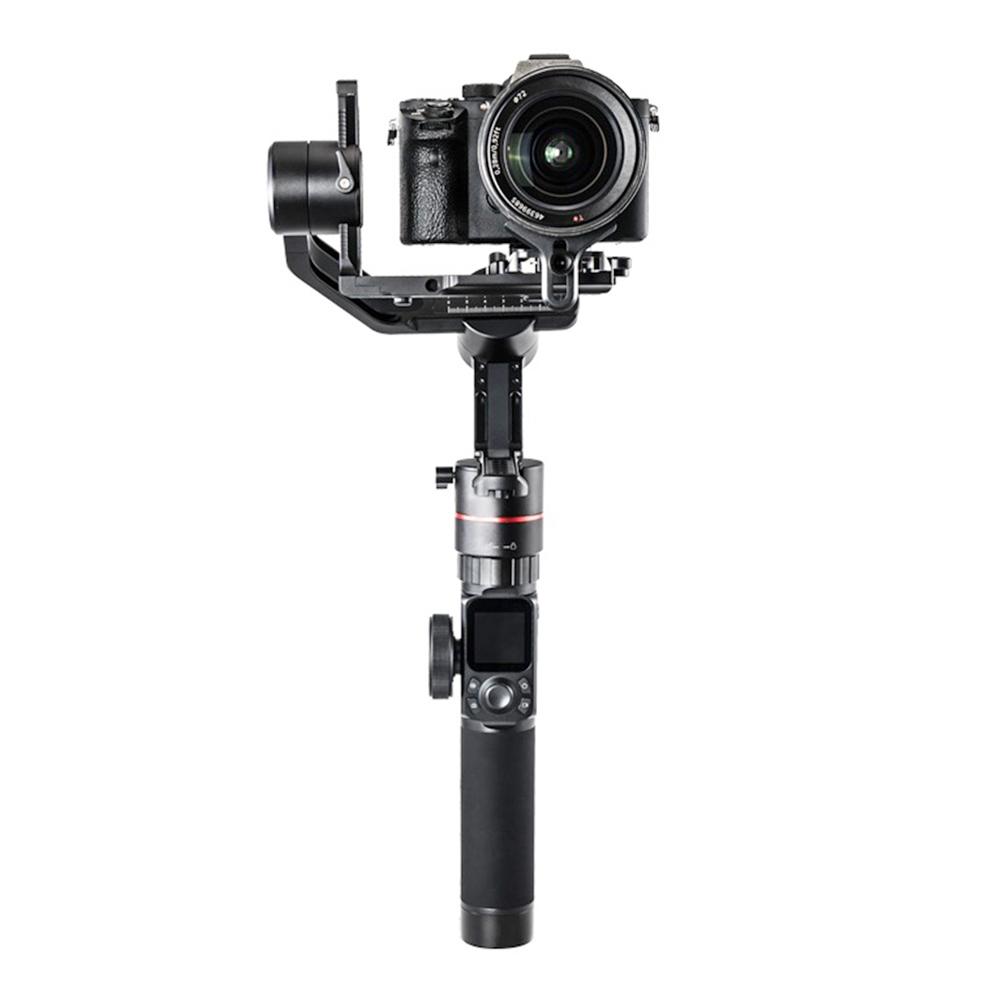 FeiyuTech AK2000 3-Axis Brushless Handheld Gimbal Stabilizer LCD Touch Screen Mirrorless DSLR Camera  - Black