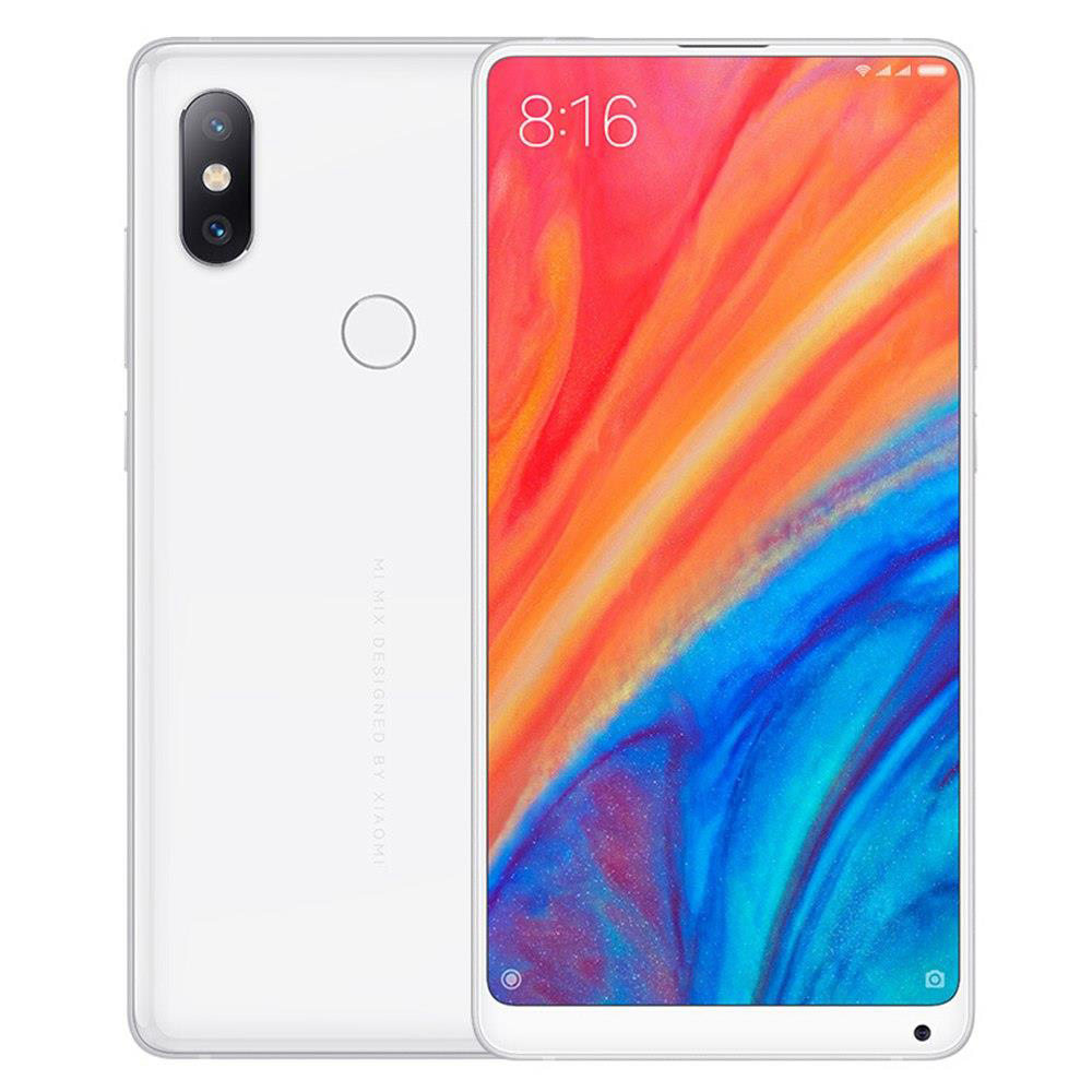 Xiaomi Mi Mix 2S 5.99 Inch 4G LTE Smartphone Snapdragon 845 6GB 64GB 12.0MP Dual Rear Cameras MIUI 9 Type-C Ceramic Body Wireless Charging Global Version - White