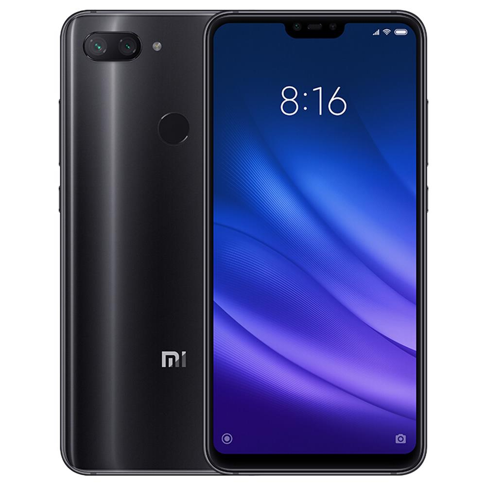 Xiaomi Mi 8 Lite 6.26 Inch 4G LTE Smartphone Snapdragon 660 6GB 64GB 12.0MP+5.0MP Dual Rear Cameras MIUI 9 Touch ID Type-C Fast Charge English Chinese Version - Midnight Black