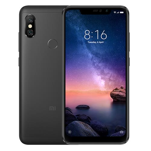 Xiaomi Redmi Note 6 Pro 6.26 Inch 4G LTE Smartphone Snapdragon 636 4GB 64GB 12.0MP Global Version - Black + 5.0MP Dual Rear Cameras MIUI 9 Face ID FHD+ Screen