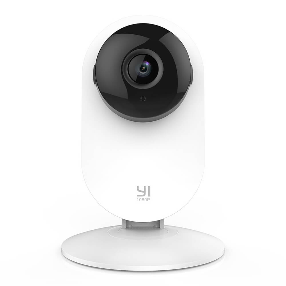 YI 1080P Home Camera Wireless IP Security Surveillance System Ambarella S2LM 1/2.8 Inches CMOS Sensor 112 Degree Wide-angle Motion Detection & Alert  Night Vision Two-way Audio YI Smart Home Camera - White