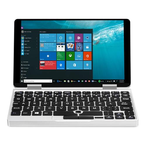 """One Netbook One Mix 2 Yoga Pocket Laptop Intel Core m3-7Y30 Dual Core Touch ID 7"""" IPS Screen 1920*1200 Windows 10 8GB DDR3 256GB PCI-E SSD - Silver"""